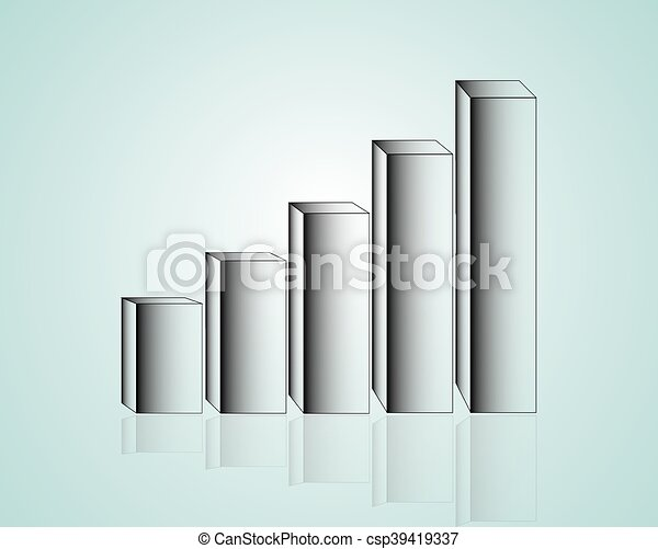 Business graph. Vector illustration. - csp39419337