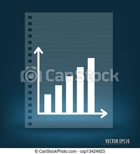 Business graph. Vector illustration. - csp13424923
