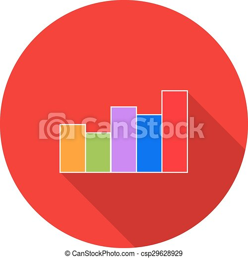 Business graph. Vector illustration. - csp29628929