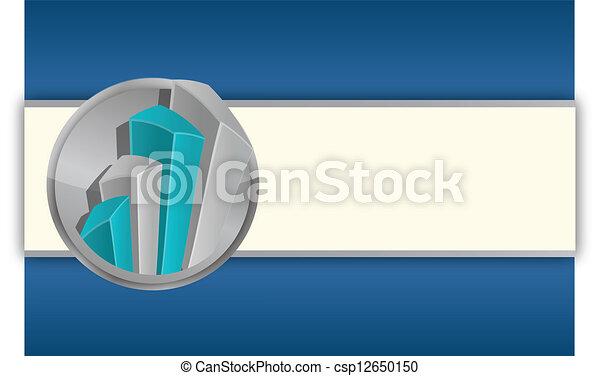 business graphs background, blue colors - csp12650150
