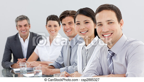 Business group showing diversity in a meeting - csp2885327