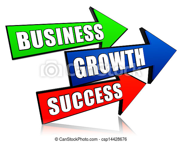 business, growth and success in arrows - csp14428676