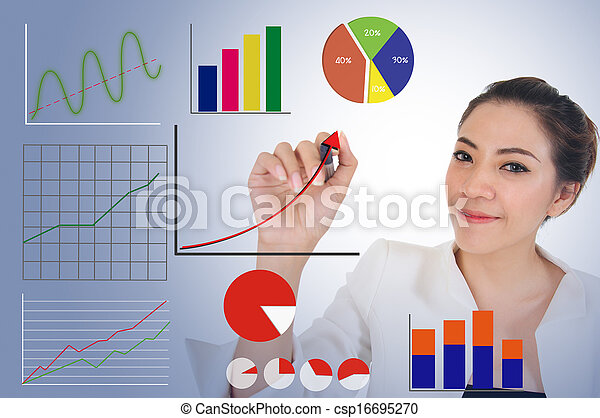 Business growth concept by graph - csp16695270