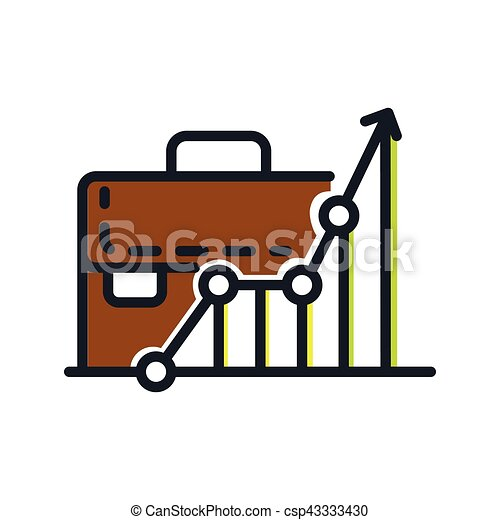 business growth icon color - csp43333430