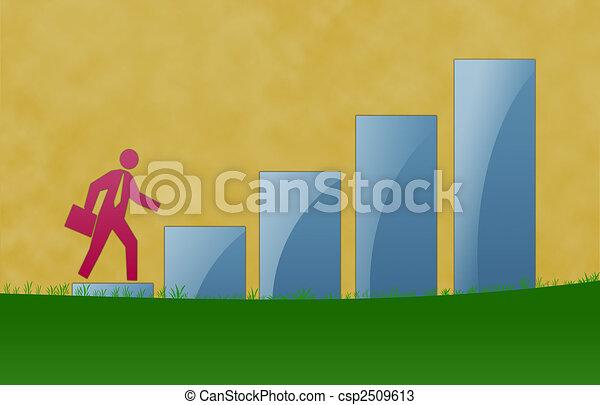Business Growth Illustration - csp2509613