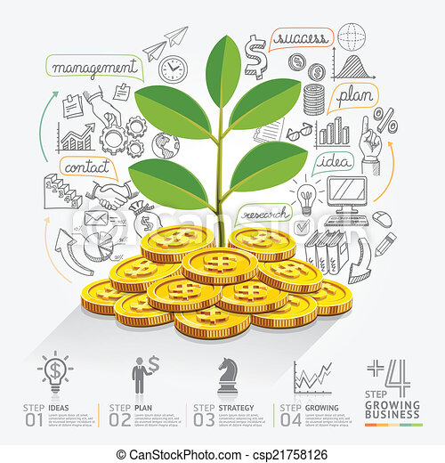 Business growth infographics option - csp21758126