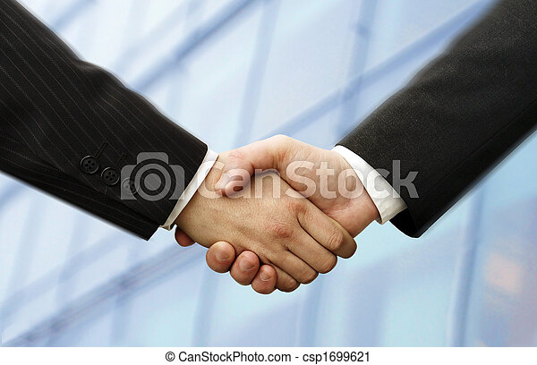 business hand shake - csp1699621