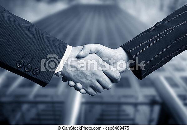 business hand shake - csp8469475