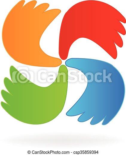 Business hands logo - csp35859394