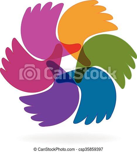 Business hands logo - csp35859397