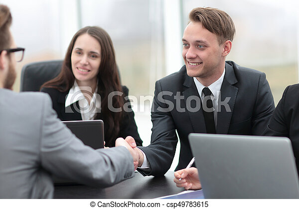 business handshake business partners - csp49783615