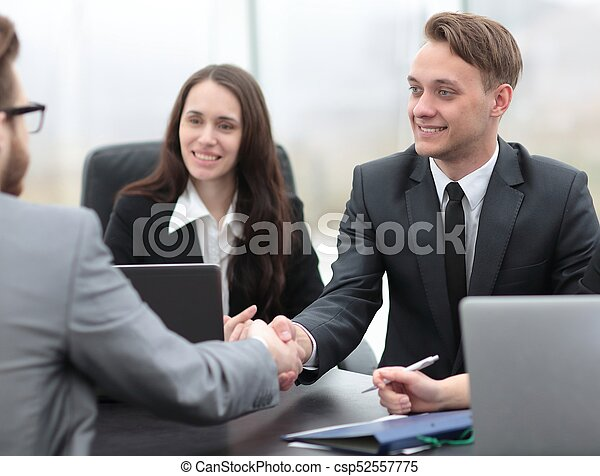 business handshake business partners - csp52557775