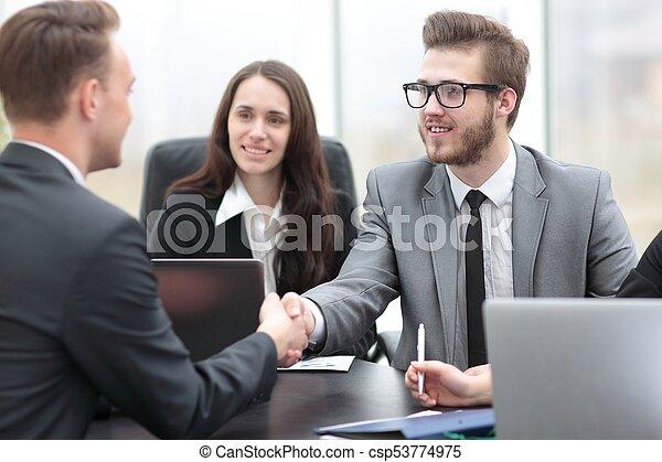 business handshake business partners - csp53774975
