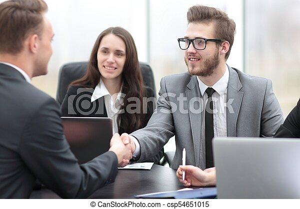 business handshake business partners - csp54651015