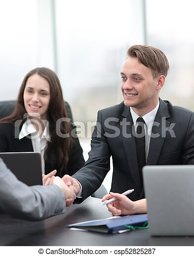 business handshake business partners - csp52825287