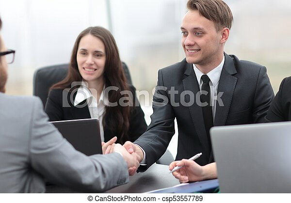 business handshake business partners - csp53557789