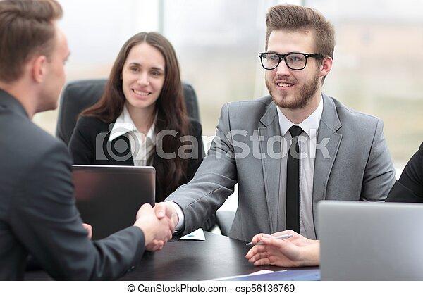 business handshake business partners - csp56136769