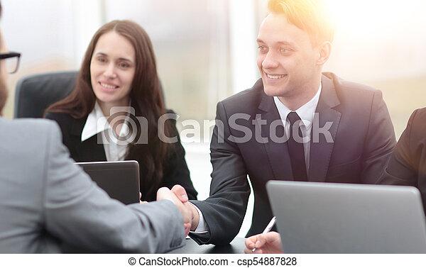 business handshake business partners - csp54887828