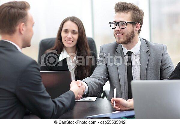 business handshake business partners - csp55535342