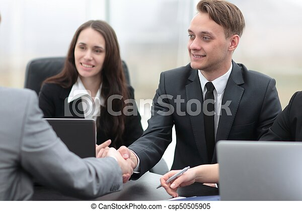 business handshake business partners - csp50505905