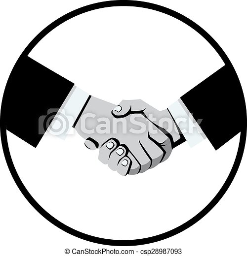 business handshake black and white image in circle eps vectors rh canstockphoto com