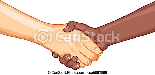 business handshake illustration of black and white male free clip art of handshaking Free Cliart Friendship