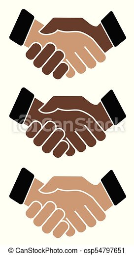 Business handshake. Icon on white background - csp54797651