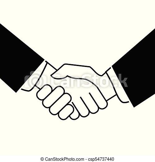 Business handshake. Icon on white background - csp54737440