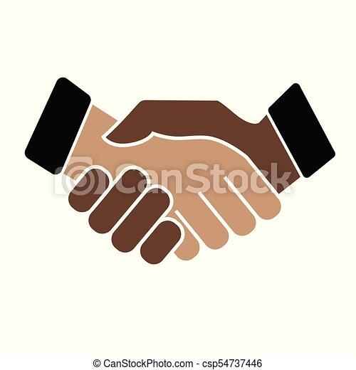 Business handshake. Icon on white background - csp54737446
