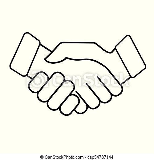 Business handshake. Icon on white background - csp54787144