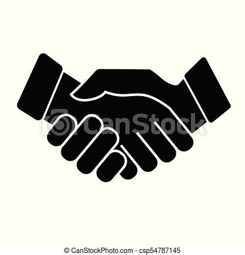 Business handshake. Icon on white background - csp54787145