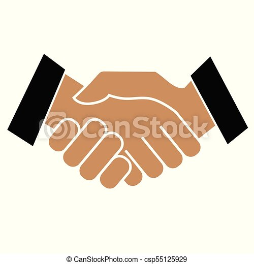 Business handshake. Icon on white background - csp55125929