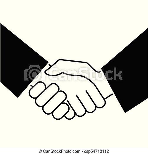 Business handshake. Icon on white background - csp54718112