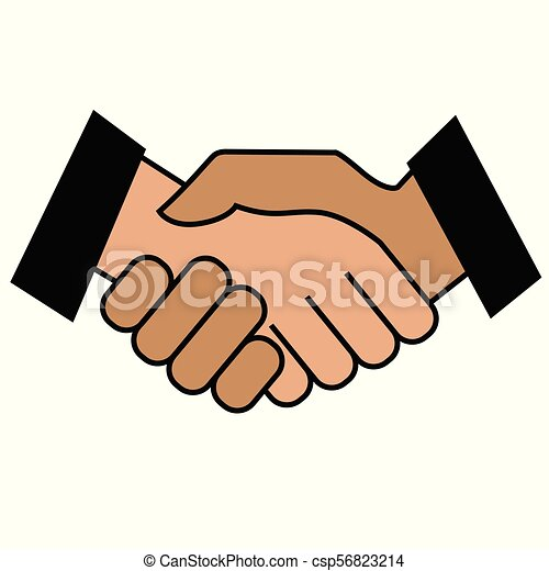 Business handshake. Icon on white background - csp56823214