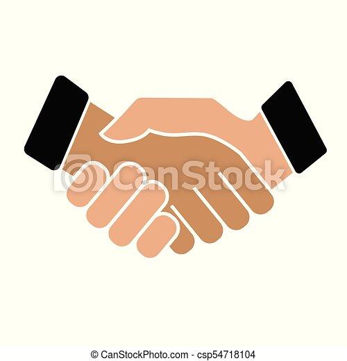 Business handshake. Icon on white background - csp54718104