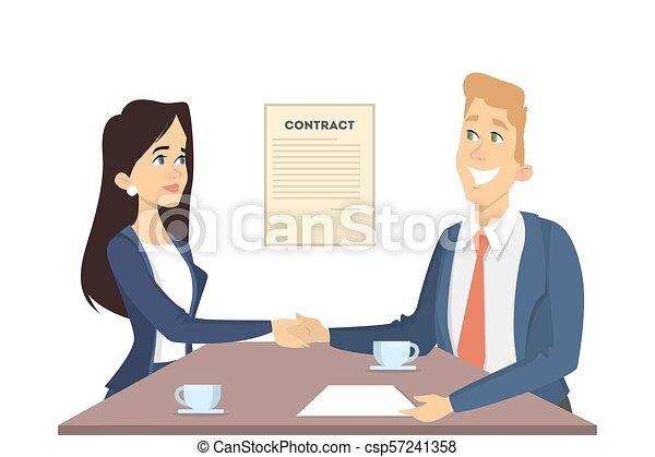 Business handshake illustration. - csp57241358