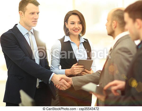 Business handshake - csp35543472
