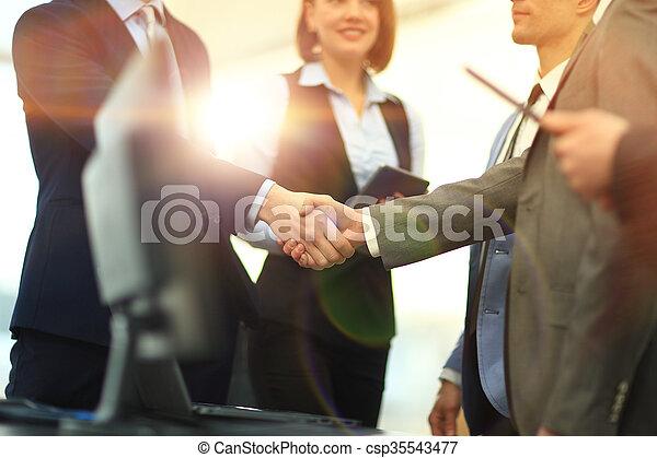Business handshake - csp35543477
