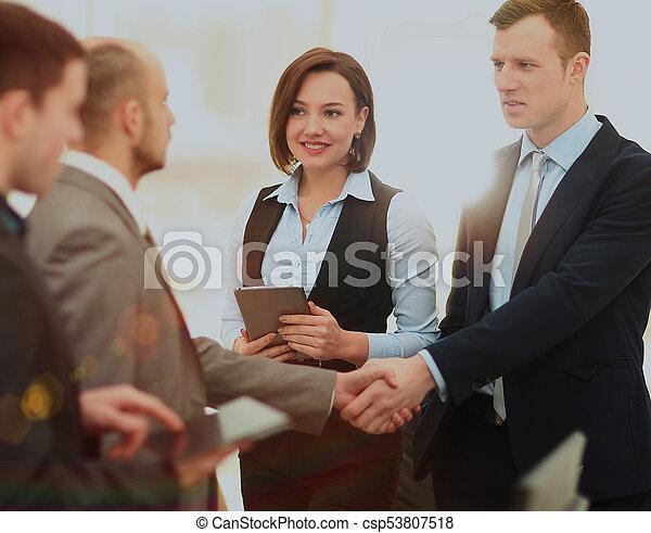Business handshake. - csp53807518