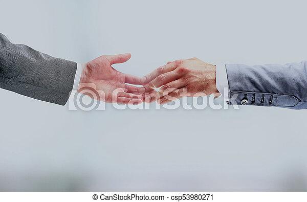 Business handshake. - csp53980271