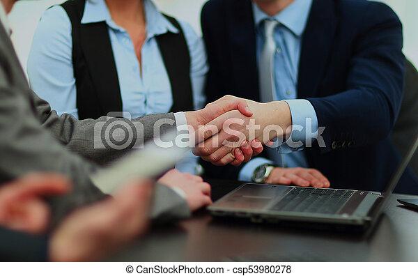 Business handshake. - csp53980278