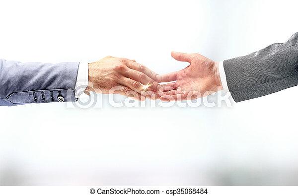 Business handshake - csp35068484