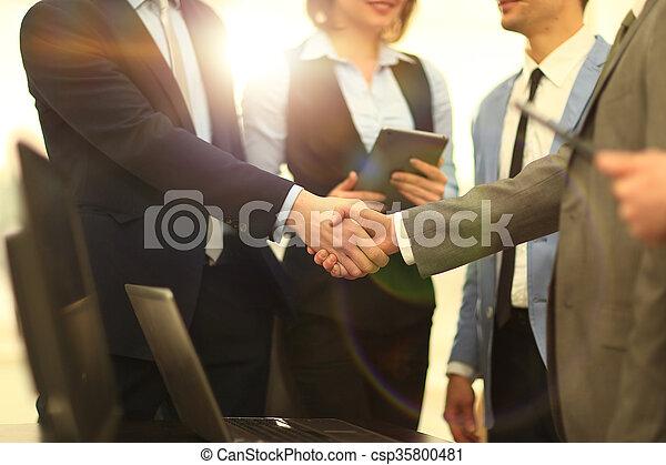 Business handshake - csp35800481