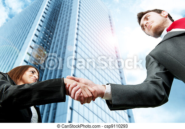 Business handshake - csp9110293
