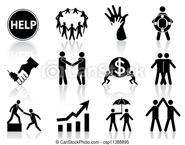 business help icons - csp11388895