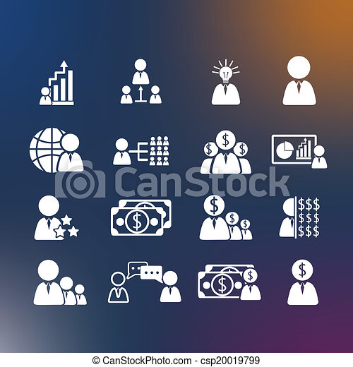 Business Human icons - csp20019799
