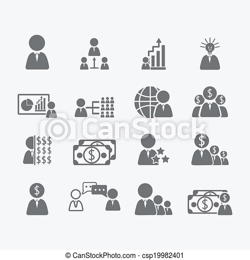 Business Human icons - csp19982401