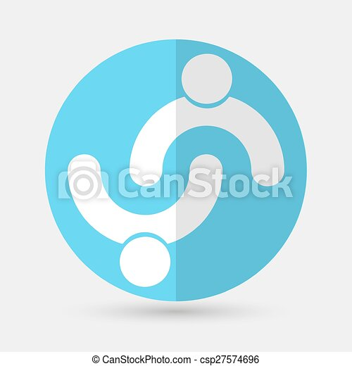 Business icon. Handshake on a white background - csp27574696