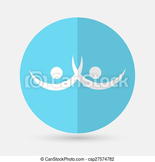 Business icon. Handshake on a white background - csp27574782