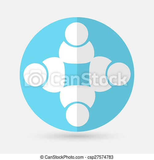 Business icon. Handshake on a white background - csp27574783